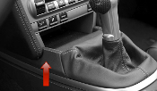 Leather Shift Boot Extension Trim for 997/987