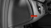 Leather Stitched Dash Endplate Trims for 997/987