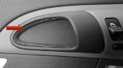 Leather Stitched Interior Door Handles for 997/987