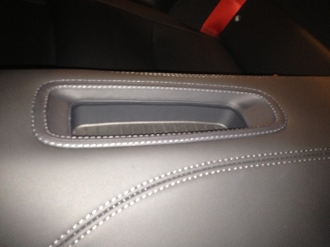 Leather Rear Storage Tray Trim for 991