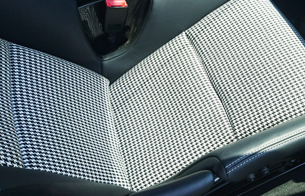 LWB Seat Inserts in Houndstooth Pepita Syle